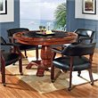 ADD TO YOUR SET: Steve Silver Company Tournament Black Top Poker Game Table in Cherry