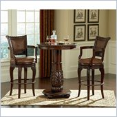 Steve Silver Company Antoinette 3 Piece Pub Set in Cherry Finish