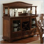 Steve Silver Company Wyndham Wine Storage Server with Hutch in Distressed Tobacco