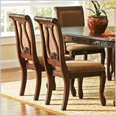 Steve Silver Company Harmony Harpback Dining Side Chair in Dark Oak