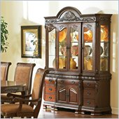 Steve Silver Company Harmony Buffet with Hutch in Dark Oak