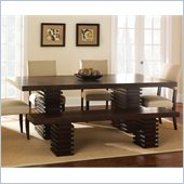 Steve Silver Company Briana Rectangle Dining Table in Multi-Step Rich Espresso