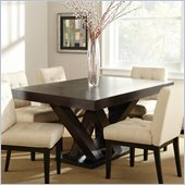Steve Silver Company Tiffany Rectangular Dining Table in Espresso