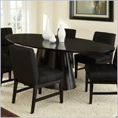 Steve Silver Company Maurice Contemporary Oval Dining Table in Sleek Black