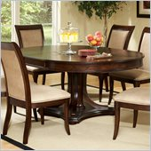 Steve Silver Company Marseille Pedestal Dining Table with Leaf in Dark Rich Cherry