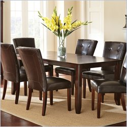 Steve Silver Company Marcus Rectangular Dining Table with Leaf in Dark Espresso