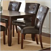 Steve Silver Company Marcus Parsons Dining Chair in Dark Brown Vinyl Upholstery
