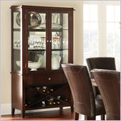 Steve Silver Company Marcus Curio with Wine Storage in Dark Espresso