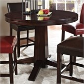 Steve Silver Company Hartford 48 Inch Round Counter Height Dining Table in Dark Cherry