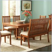 Steve Silver Company Tulsa Casual Dining Table with Butterfly Leaf in Oak