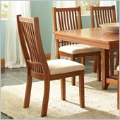 Steve Silver Company Tulsa Dining Side Chair in Oak Finish