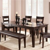 Steve Silver Company Victoria Rectangular Dining Table with Butterfly Leaf in Mango Finish