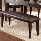 Steve Silver Company Victoria Dark Brown Vinyl Upholstery Bench in Mango Finish