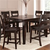 Steve Silver Company Victoria Counter Height Dining Table w and  Butterfly Leaf in Mango