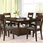 Steve Silver Company Gibson 2 in 1 Regular and Counter Dining Table with Leaf in Espresso