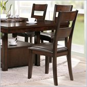 Steve Silver Company Gibson Ladderback Upholstered Dining Side Chair in Espresso