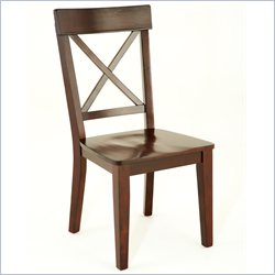 Steve Silver Company Gibson X-Back Dining Chair in Espresso