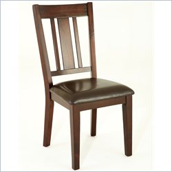 Steve Silver Company Gibson Straight Back Upholstered Dining Chair in Espresso