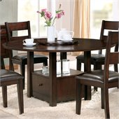 Steve Silver Company Gibson 2 in 1 Square and Round Dining Table with Drop Leaf in Espresso