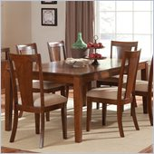 Steve Silver Company Easton Rectangular Dining Table with 18 Leaf in Multi-Step Cherry