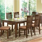 Steve Silver Company Montreal Rectangular Dining Table with Leaf  in Dark Oak