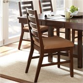Steve Silver Company Eden Modern Brown Upholstery Dining Side Chair in Dark Cherry
