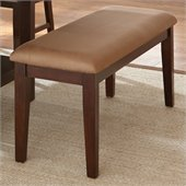 Steve Silver Company Eden Modern Bench in Dark Cherry