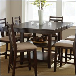 Steve Silver Company Munich Counter Height Dining Table with Butterfly Leaf in Rich Espresso