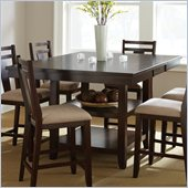 Steve Silver Company Munich Counter Dining Table w and  Butterfly Leaf in Rich Espresso