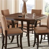 Steve Silver Company Derrick Round Counter Height Dining Table in Dark Oak