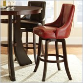 Steve Silver Company Brooks Swivel Bar Stool in Red
