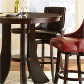 Steve Silver Company Brooks Swivel Bar Stool in Brown