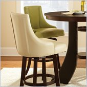Steve Silver Company Brooks Swivel Bar Stool in Green