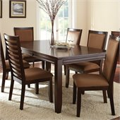 Steve Silver Company Cornell Rectangular Dining Table with Leaf in Rich Espresso
