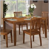 Steve Silver Company Candice Rectangular Dining Table in Oak Finish