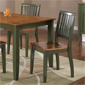 Steve Silver Company Candice Dining Side Chair in Oak and Green