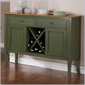 Steve Silver Company Candice Server in Oak and  Green