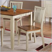 Steve Silver Company Candice Dining Side Chair in Oak and White