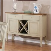 Steve Silver Company Candice Server in Oak and  White