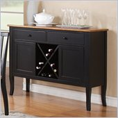 Steve Silver Company Candice Server in Oak and  Black