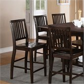 Steve Silver Company Candice Counter Height Dining Chair in Dark Espresso