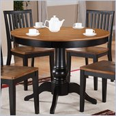 Steve Silver Company Candice Round Dining Table in Oak and Black