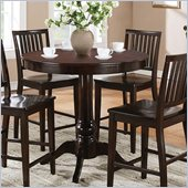 Steve Silver Company Candice Round Counter Height Dining Table in Dark Espresso