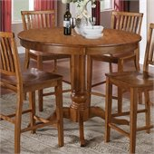 Steve Silver Company Candice Round Counter Height Dining Table in Oak