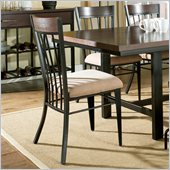 Steve Silver Company Crosby Side Dining Chair in Black Metal and Espresso Wood