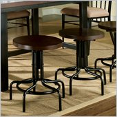 Steve Silver Company Crosby Swivel Bar Stool in Black Metal and Espresso Wood