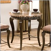 Steve Silver Company Hamlyn Round Marble Top Counter Height Dining Table in Brown