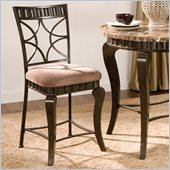 Steve Silver Company Hamlyn Counter Height Dining Chair in Brown Marble Veneer