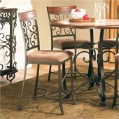 Steve Silver Company Thompson Counter Height Dining Chair in Metal and Cherry Finish