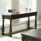 Steve Silver Company Leona Sofa Table in Dark Hand Rubbed Finish